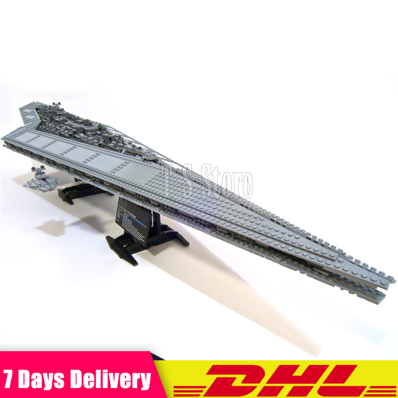 DHL LEPIN 05028 3208 PCS Star War UCSSuper Star Destroyer Battleship Model Building Blocks Toys Compatible 10221 Boy Gifts конструктор lepin star wnrs звёздный супер разрушитель 3208 дет 05028