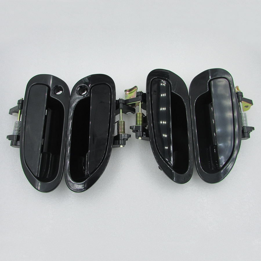 Set 4PCS zunanji zunanji ročaj vrat za avtomobile za Honda Accord Six Generation 1998-2002 2.0 2.3 3.0 črn