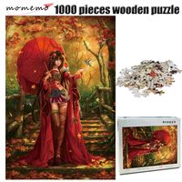 모모 뷰티 성인 퍼즐 1000 조각 나무 퍼즐 중국어 스타일 지그 소 퍼즐 1000 조각 퍼즐 게임 완구 어린이를위한