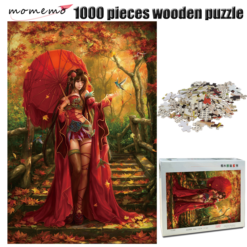 MOMEMO The Beauty Adult Puzzle 1000 Pieces Wooden Puzzle Chinese Style Jigsaw Puzzle 1000 Pieces Puzzles Game Toys For Children