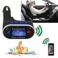 Nueva radio de coche adaptador transmisor fm manos libres bluetooth kit de coche para el iphone samsung mp3 reproductor de modulador de mandos a distancia