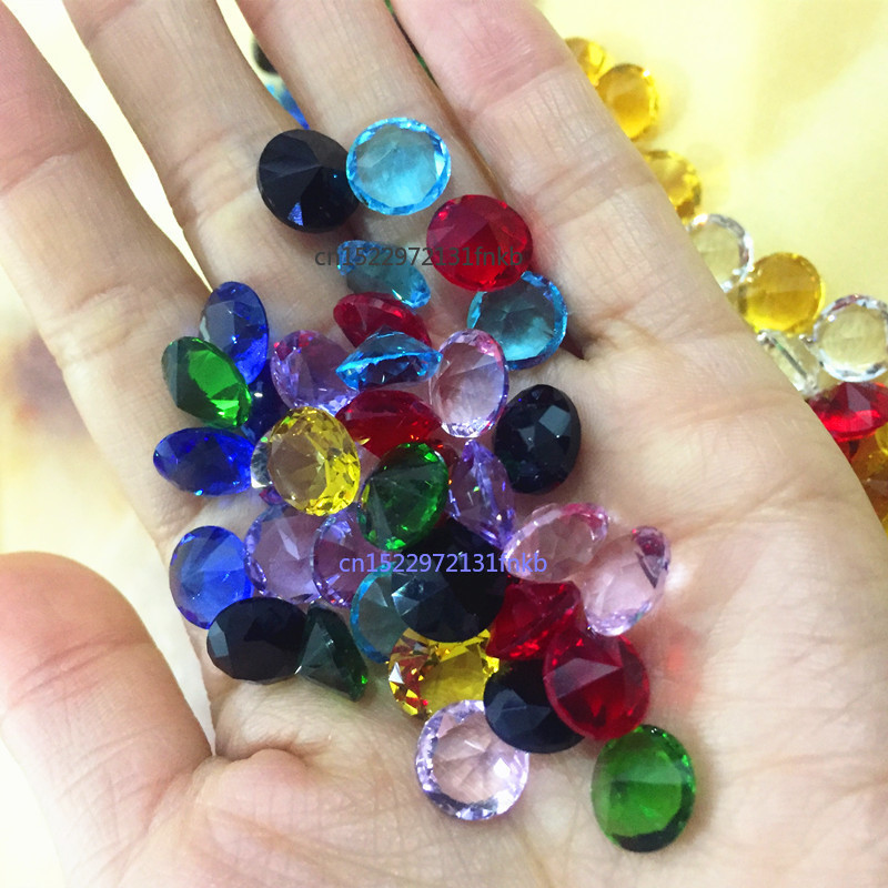 10MM 10pcs Dimeter Crystal Diamond Rainbow Glass Beads Feng Shui Sphere Crystals Decorative Craft Gift Wedding Home Vase Decor