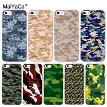 MaiYaCa Retro Cool Army Camouflage Colorful Cute Phone Accessories Case for Apple iPhone 8 7 6 6S Plus X 5 5S SE 5C 4 4S Cover