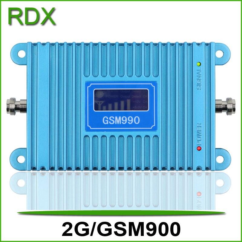 Amplificateur répéteur de téléphone portable GSM990 2g gsm900mhz à gain élevé 65dB avec amplificateur lcd de haute qualité