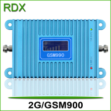 High gain 65dB new cellphone gsm booster GSM990 mobile phone 2g gsm900mhz repeater amplifier with lcd display high quality