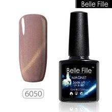 BELLE FILLE Cat Eye Gel Nail Polish 3D Bling Glitter Varnish Manicure Fingernail UV Gel Polish Magnetic Cat Eye Gel Polish
