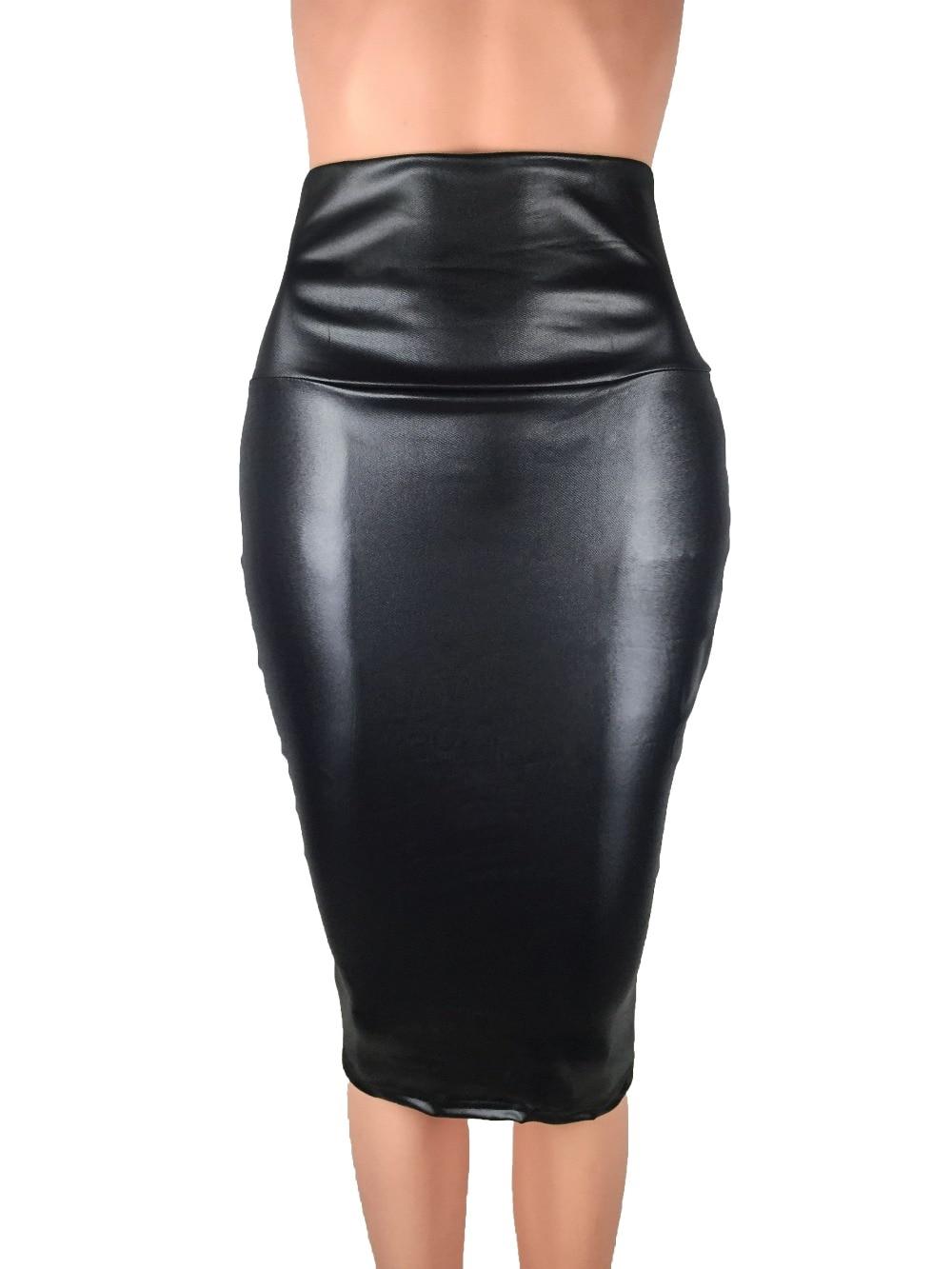 Bohocotol 2018 μολύβι faux δερμάτινη φούστα - Γυναικείος ρουχισμός - Φωτογραφία 1