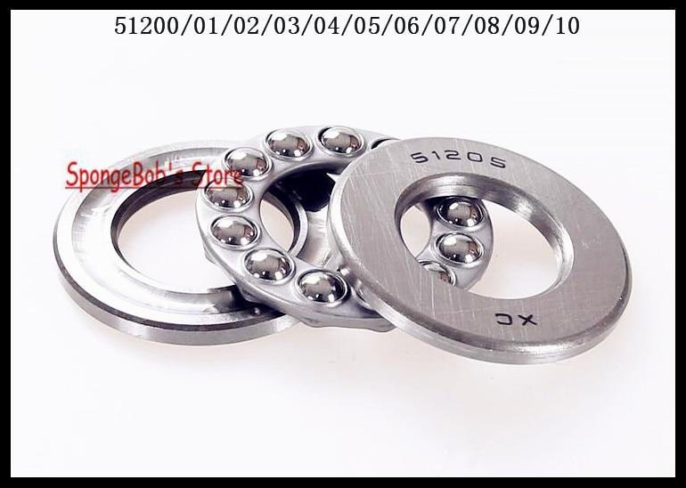 3pcs/Lot  51210 50mm x 78mm x 22mm Axial Ball Thrust Bearing 3pcs lot 51208 40mm x 68mm x 19mm axial ball thrust bearing