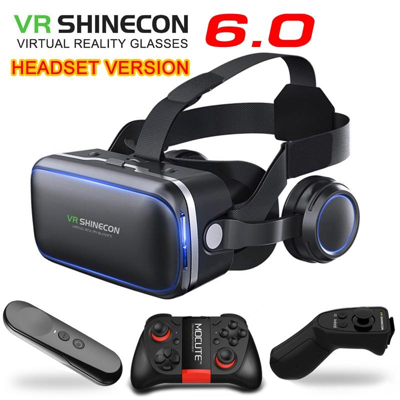 Original VR shinecon 6.0 Standard edition and headset version virtual reality glasses 3D glasses headset helmets smartphone