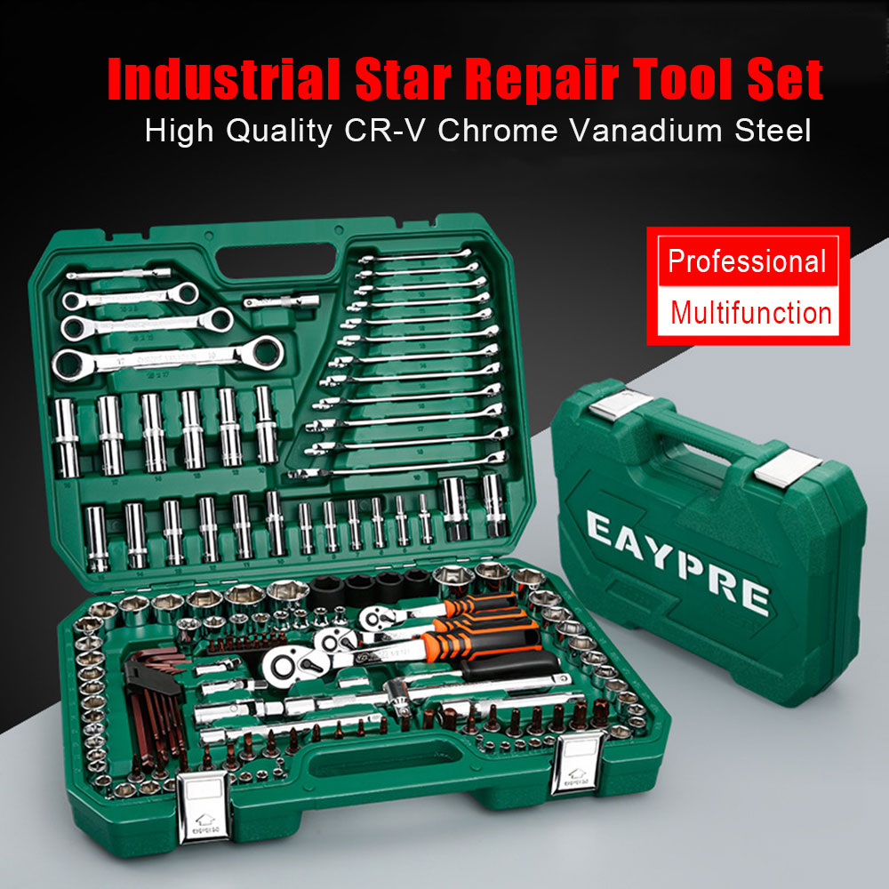 2019 New Professional Spanner Socket Set Screwdriver Wrench Set Ratchets Set Kit Car Repair Tools Combination Hand Tools Set