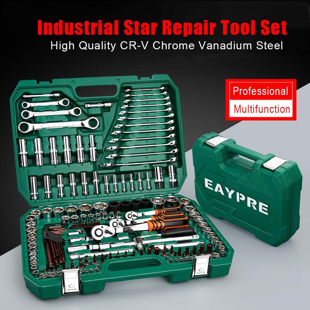 2019 nouveau jeu de clés à douille professionnel jeu de clés à cliquet Kit d'outils de réparation de voiture ensemble d'outils à main combinés