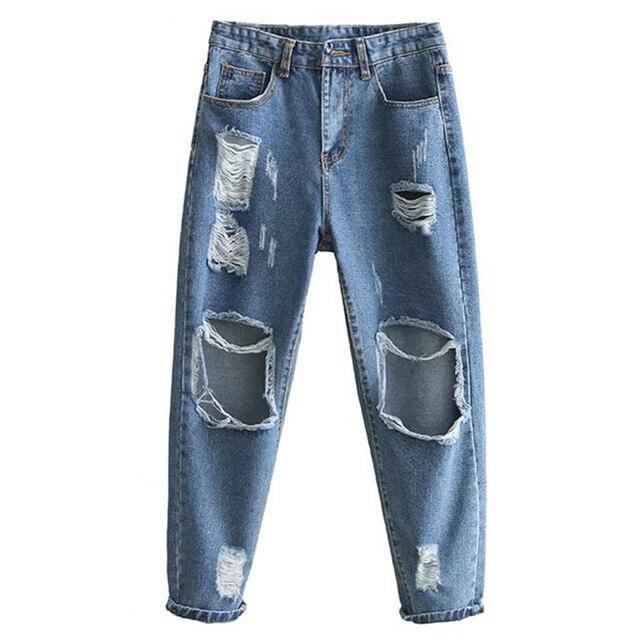 Marke Denim Boyfriend Ripped Jeans Kühlen New Große Löcher Frauen bfv7gy6Y