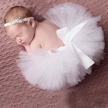 Newborn Infant BABY Girls Fluffy Tutu Skirt Girl Saias with Matching Headband BABY Photography Props Set