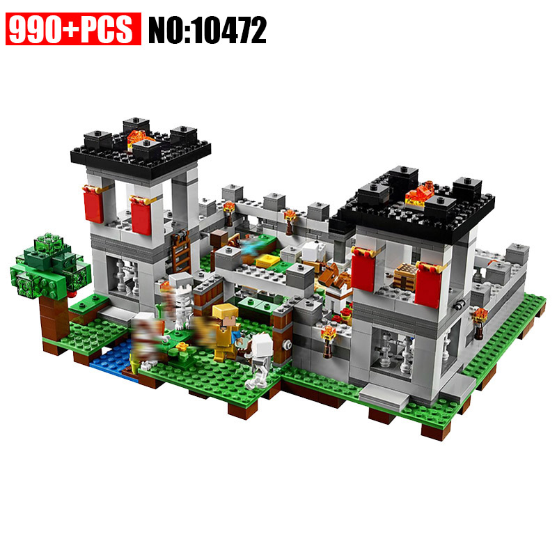 AIBOULLY 10472 Pogp 990pcs The Forest Minecraft Models Building Blocks Bricks Compatible Bela 21127 Toys Gifts for Children цена