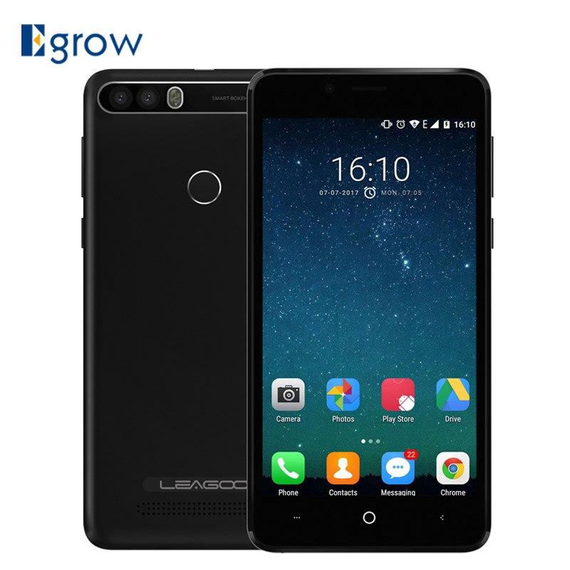 Leagoo kiicaa Мощность 5.0 дюймов 4000 мАч сотовый телефон Android 7.0 MT6580A 2 г Оперативная память 16 г Встроенная память 8MP двойной сзади камеры смартфона 3G мобильного телефона