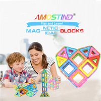 Brand 82 Pcs Free Manual Free Toy Bag Magnetic Blocks Kids Educational Magnetic Models Building Blocks