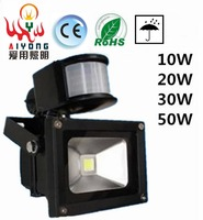 LED Floodlights Wall Lamp 10 W20w30w50w Single Light Body Induction Waterproof Lamp