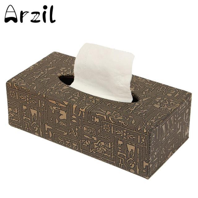 boîte de rangement pour du papier de soie en cuir pu aimant