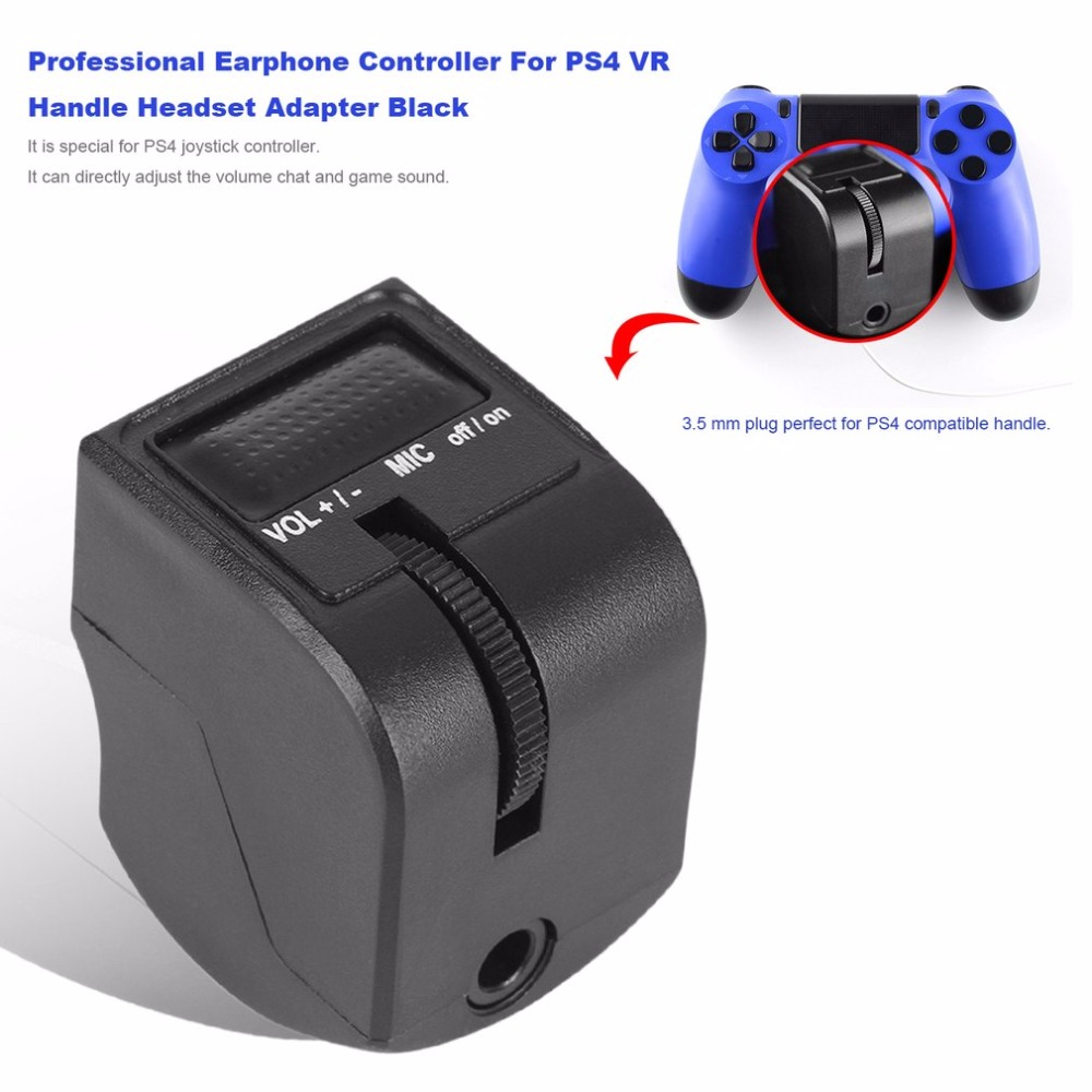Newest Earphone Controller For PS4 VR Handle Headset Adapter Professional For Chatting Volume Control And Game Sound
