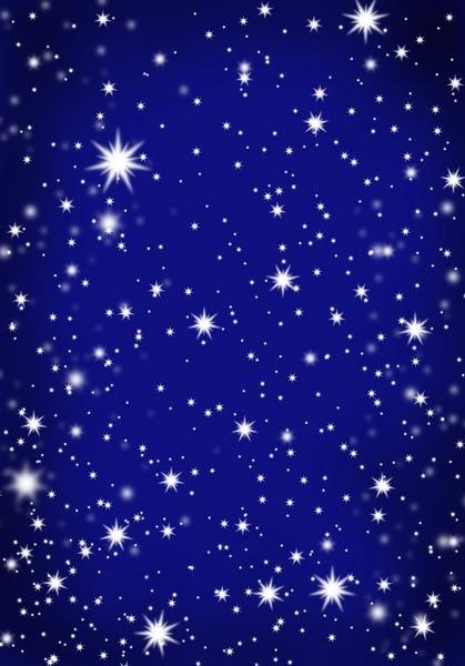 Sfondo Vinile Fotografia Fantasia Stella Su Cielo Blu Notte Fondali