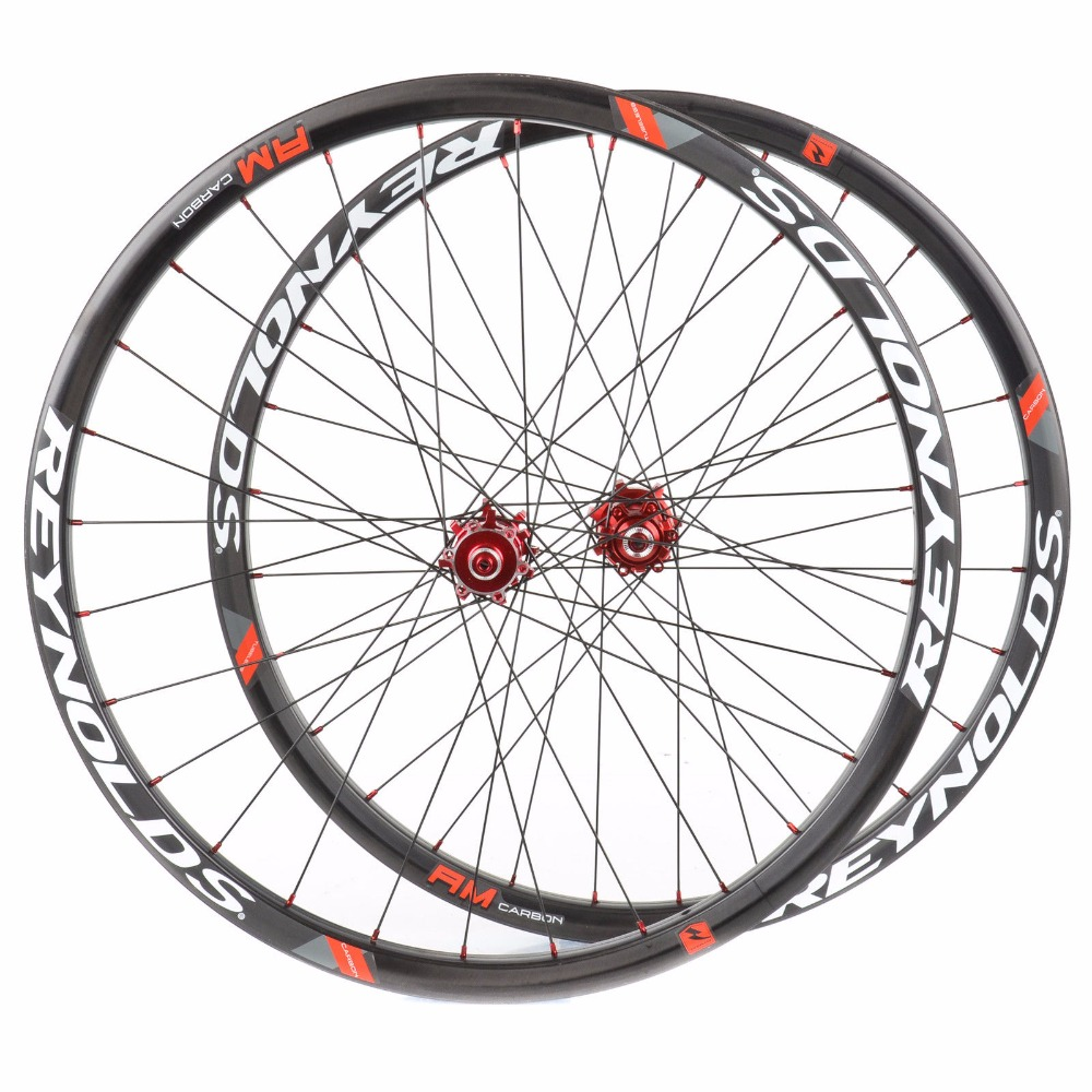 27.5er Full Carbon MTB Wheels 25 Deep Clincher Mountain 29er Bike Wheelset for AM Hookless Rim Tubeless Compatible 35mm Width 29er 650b hookless carbon mtb wheelset width 30mm 35mm 40mm tubeless mountain bike thru axle wheelset front 12 100 rear 12 142