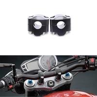 2x CNC Motorcycle 7/8 22mm Original HandleBar Clamp Riser Universal For Fat Bar Honda Yamaha Suzuki Dirt Bike Pit Bike ATV