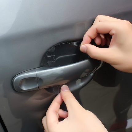 For Skoda yeti fabia superb octavia Door handle protection film car stickers car-styling Door bowl stickers