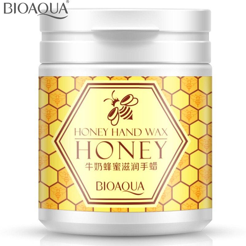BIOAQUA Milk Honey Moisturizing Hand Wax Paraffin Bath Hand Cream Whitening Hydrating Cutin Membrane Remove Aged Horn 170g bioaqua honey quintessence foot membrane 10pcs