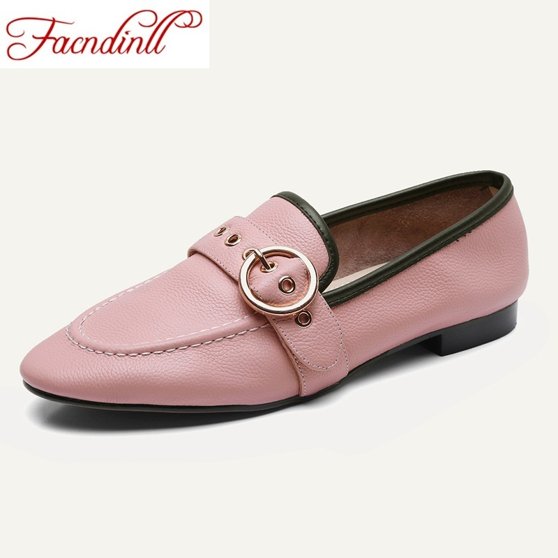 FACNDINLL 2018 new spring women flats shoes fashion genuine leather flat heel round toe comfortable shoes woman casual shoes 2017 summer new women fashion leather nurse teacher flats moccasins comfortable woman shoes cut outs leisure flat woman casual s