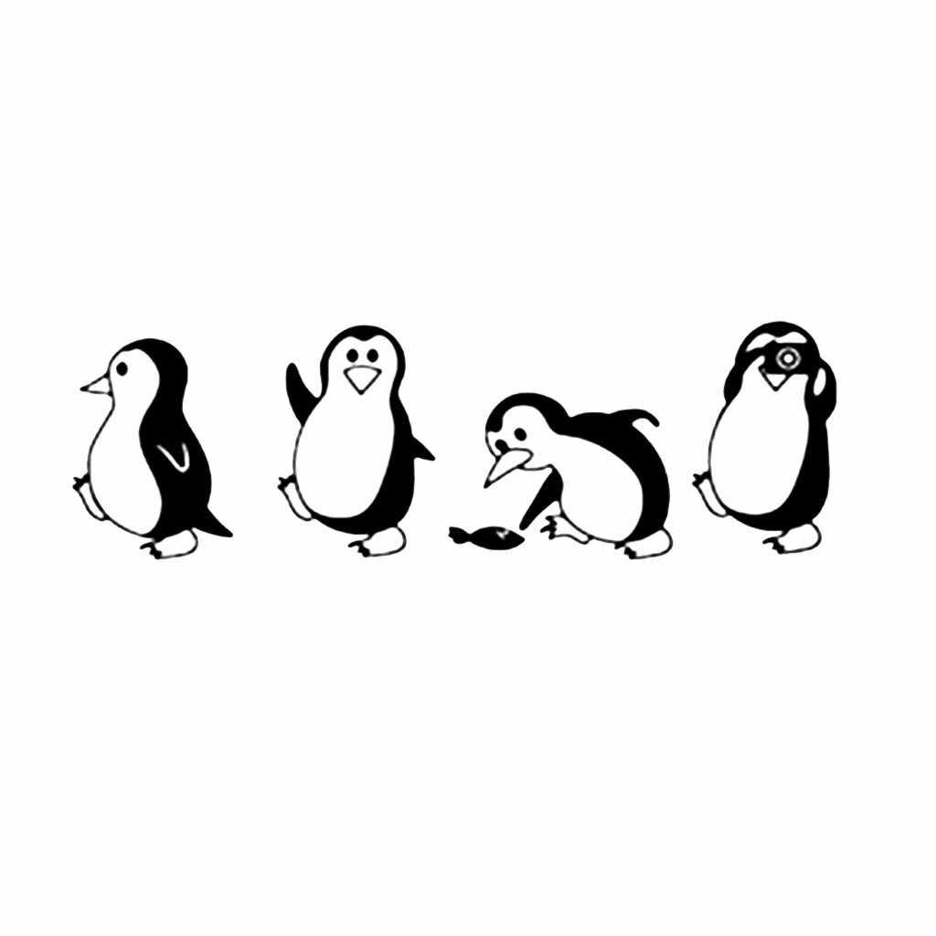 Pegatinas de pared de la familia arte Mural decoración del hogar DIY extraíble pingüino pared pegatinas hogar decorativo calcomanía niños habitación de bebé