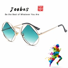 Joubas Round Sunglasses Women Men 2019 Square Hollow out Sun Glasses Personality Cool Festival Party Goggles UV oculos de sol 38 cool hollow out cycling mirrored sunglasses