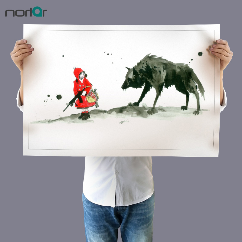 HD Printed Canvas Painting Art Print Lora Zombie Red Riding Hood Modern Home Decor Wall ART Pictures Unframed