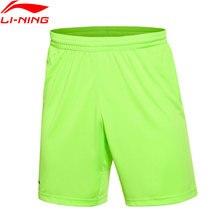 Li-Ning мужской, футбол, серия соревнований, нижняя Стандартная посадка на сухой полиэфирной подкладке дышащие спортивные шорты AAPK353 0000