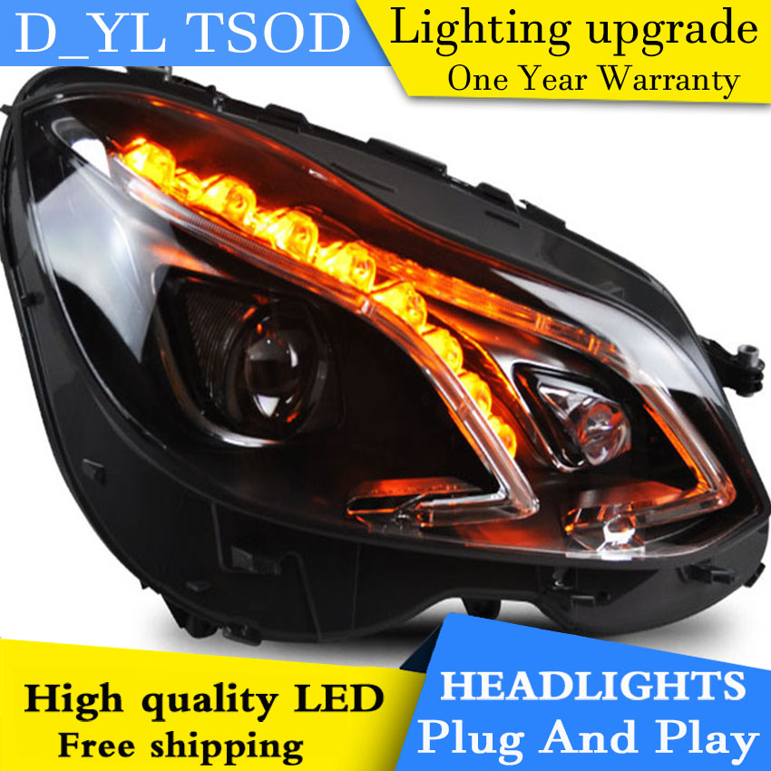 D YL Car Styling for Benz E200 E260 E300 Headlights 2014 2015 W212 LED Headlight DRL