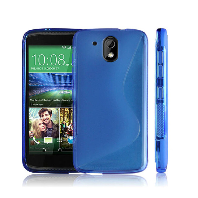 more photos 81f81 74626 US $1.79 10% OFF GXE Soft Silicone TPU S line Back Cover Case For HTC  Desire 526 526G dual sim 526G+ 610 601 620 One A9 M9 Phone Protective  Cases-in ...