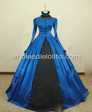 Victorian Gothic Brocade Dress Ball Gown
