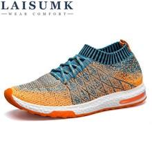 2019 LAISUMK Breathable Mesh Summer Men Casual Shoes Slip On Male Fashion Footwear Slipon Walking Unisex Couples Shoes