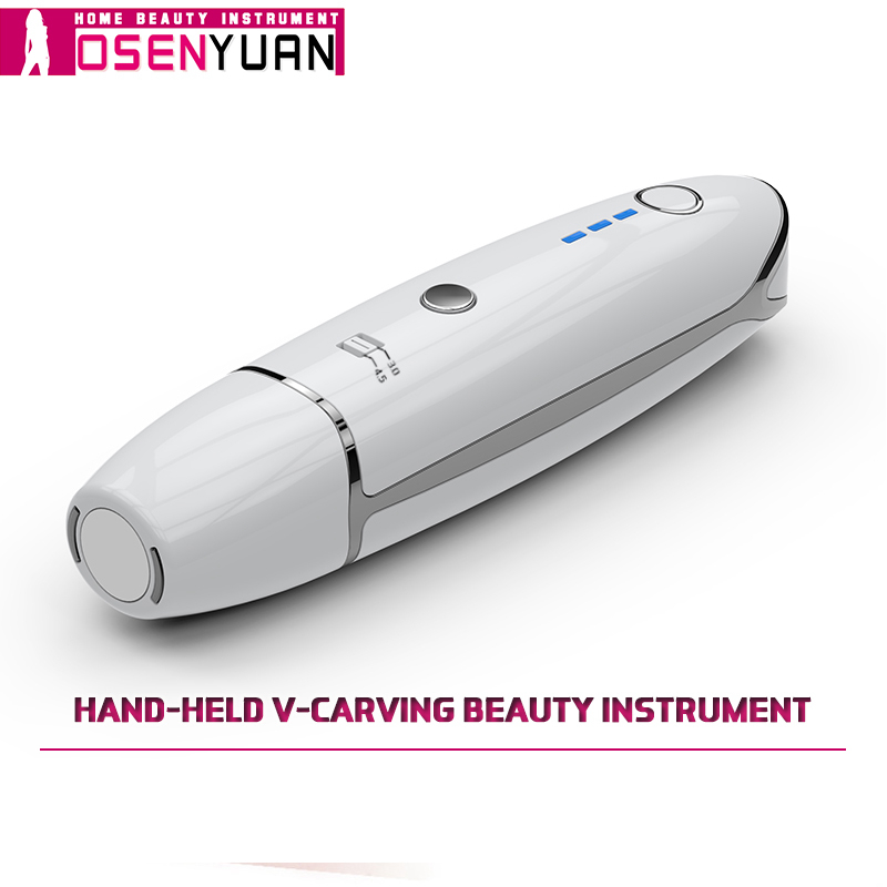 ¡El más nuevo! Mini máquina de belleza HIFU línea V forma Anti arrugas para apretar la piel ultrasonido cara máquina de elevación con regalo gratis-in Herramientas de cuidado de la piel para la cara from Belleza y salud    1