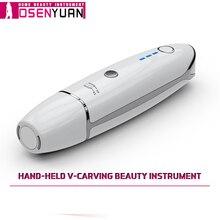 Новинка! Мини косметический аппарат HIFU V образной формы, устройство для подтяжки лица от морщин, с бесплатным подарком