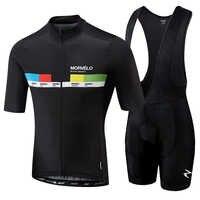 Morvelo 2019 Men Summer Clothing cycling Clothes kits short sleeve bib shorts men's Breathable Bib Shorts maillot ciclismo set