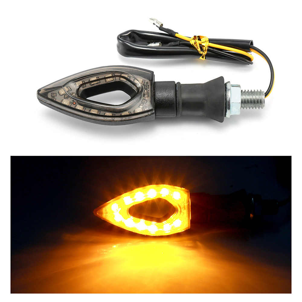12 LED Turn Signal Motorcycle Turn Signals Light Tail Lights Indicators yellow for Moto Motorbike Motorcycle Accessories