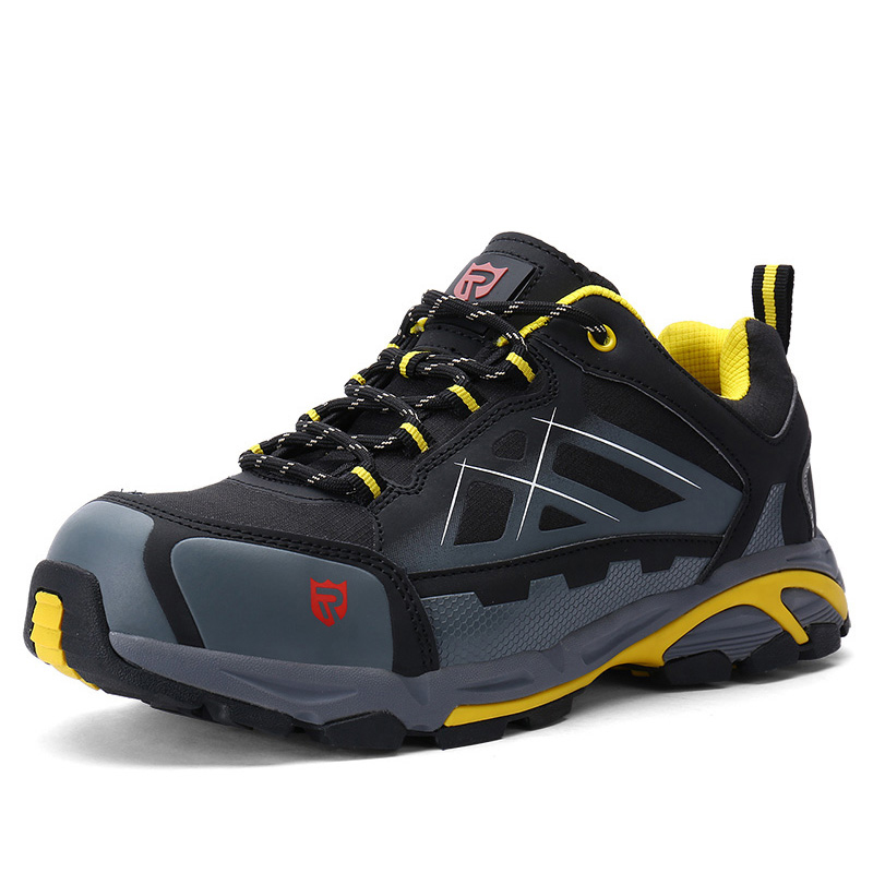 LARNMERN Mens Non-slip Spring Ankle Boots Steel Toe Work Safety Shoes Outdoor Fashion Sneakers Lightweight Puncture Proof