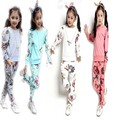 Baby Tracksuits Flower Printing Long Sleeve Spring Fall Children Girl's Casual Suits Kids 2pcs Clothing Sets