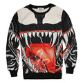 Newest Pullovers 3D Cartoon Animal Fangs Hoodies Women/Men Fashion Sweatshirts Hip Hop Style Streewear Tops Sudaderas Hombre XXL