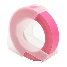 CIDY Fluorescent Pink Compatible DYMO 3D Plastic Embossing Xpress Label 9mm*3m for DYMO 1610/1575 Embossing maker MOTEX E101(China)