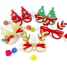Christmas Decoration Glasses Children Gifts Holiday Supplies Paper LED Party Creative