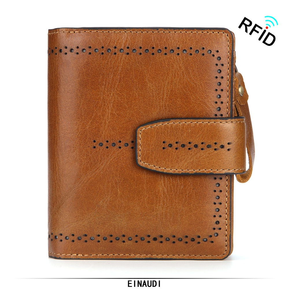 New Brand Men Wallet Fashion Genuine Leather Purse Man Short Clutch Cowhide Coin Pocket RFID ID Card Holder Male Small Money Bag