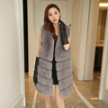 Full Pelt Fur Vests 2016 Autumn Winter Women Genuine Real Fox Fur Jacket Thick Warm Waistcoat colete