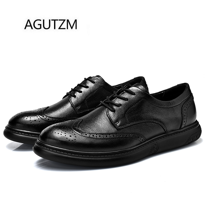 De Taille Doux Agutzm Semelle Chaussures Black En Non Richelieu La Véritable Plus 100 38 slip 46 Confortable Bullock Sculpté Caoutchouc Cuir 9009 Hommes r7t7OH
