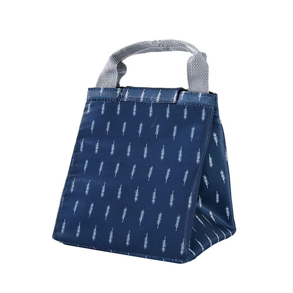 Сумка для хранения пикника Оксфорд Фламинго узор Сумочка еда путешествия фрукты теплоизоляция сумка водостойкая Bento - Цвет: tibetan blue Feather